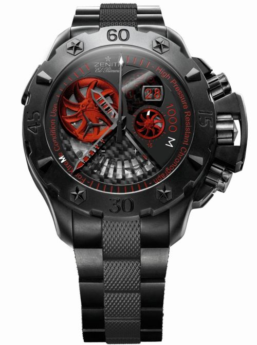 Zenith Defy Extreme Grande Date Stealth: Automatic Chronograph with Grande Date and power reserve display