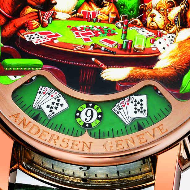 "Anderesen Geneve La Montre à tact ""Poker"""