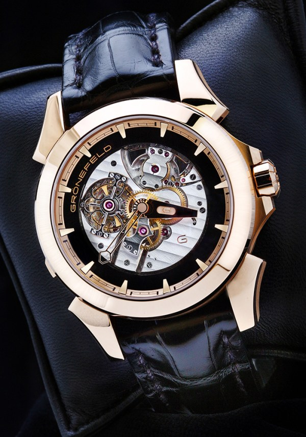 Gronefeld GTM-06 Tourbillon Minute Repeater watch in gold