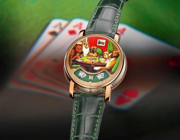 """Anderesen Geneve La Montre à tact """"Poker"""" watch"""