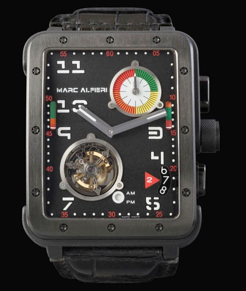Marc Alfieri Time Measure Experience TME 01 watch with tourbillon and chronograph