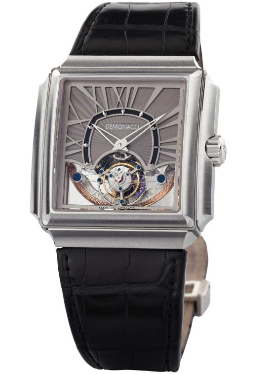Ateliers deMonaco Carrée d'Or Grand Tourbillon XP white gold watch
