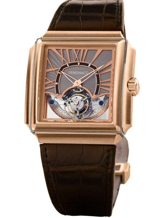Ateliers deMonaco Carrée d'Or Grand Tourbillon XP red gold watch
