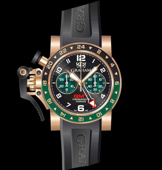Graham Chronofighter Oversize Gold GMT Big date, Reference 2OVGR.B16A.K10B