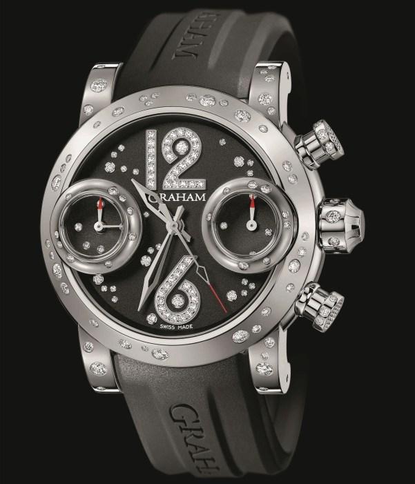 Graham Swordfish Lucy chronograph watch black