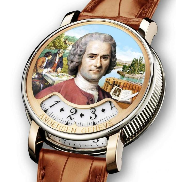 ANDERSEN GENEVE « Montre à Tact Rousseau »watch - Celebrating 300th Birth Anniversary of Jean-Jacques Rousseau