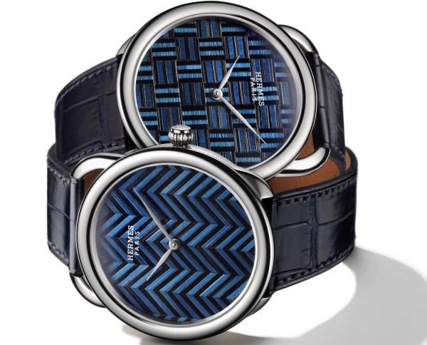 Hermès Arceau Marqueterie de Paille watch