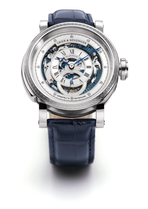 Grieb & Benzinger Blue Whirlwind watch