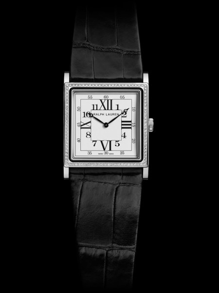 Ralph Lauren 867 Watch, Black Frame and One row of Diamonds (RLR0132703)