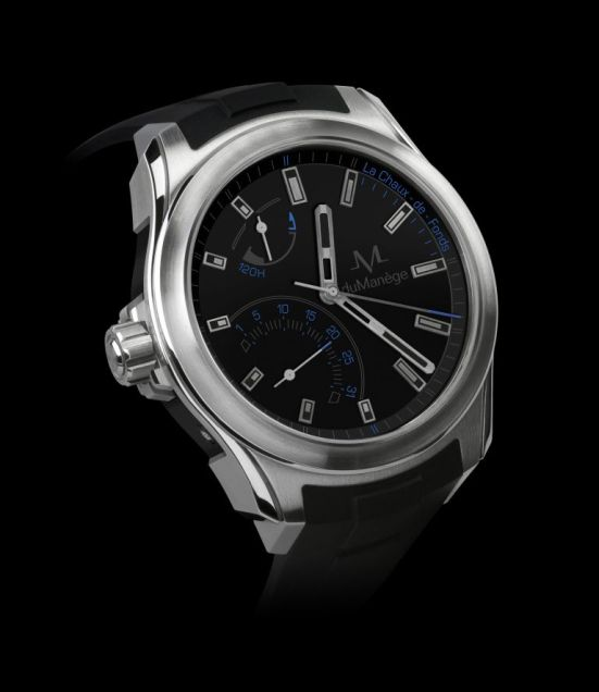 duManège Exploration Collection Steel and Ceramics watch