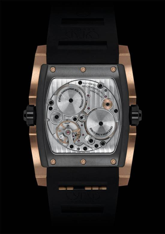 CYRUS KAMBYS watch movement view black dlc and red gold model