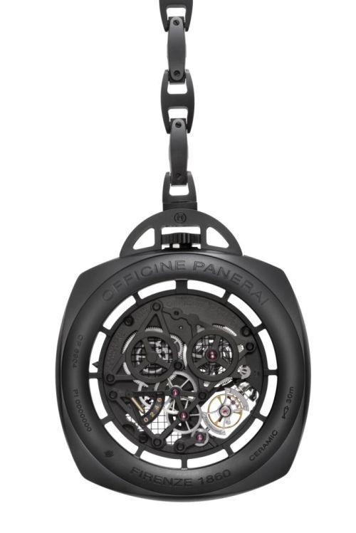 PANERAI POCKET WATCH TOURBILLON GMT CERAMICA PAM00446 (59mm)