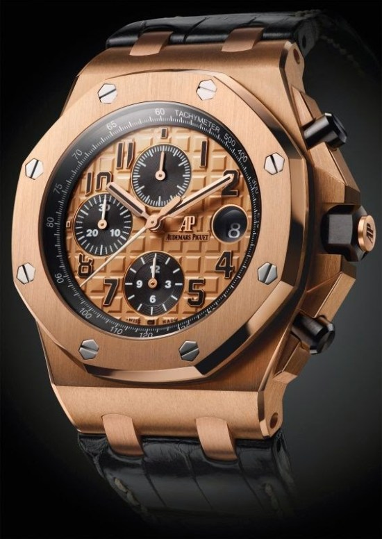 Audemars Piguet Royal Oak Offshore Chronograph 42mm with 18-carat pink gold case and Pink gold toned dial
