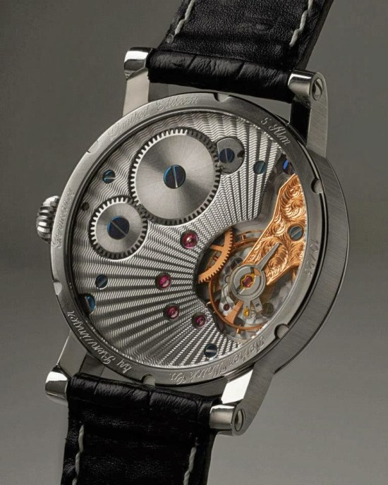 Aether by Benzinger Limited Edition watch case back view