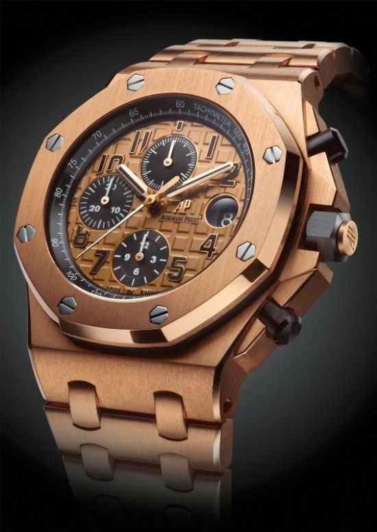 Audemars Piguet Royal Oak Offshore Chronograph 42mm with 18-carat pink gold case, pink gold bracelet and Pink gold toned dial