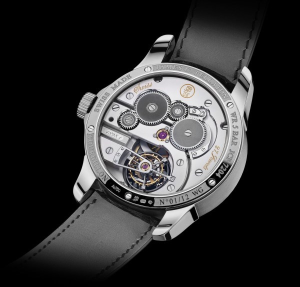 Jämes C. Pellaton Royal Marine Chronometer white gold watch case back view