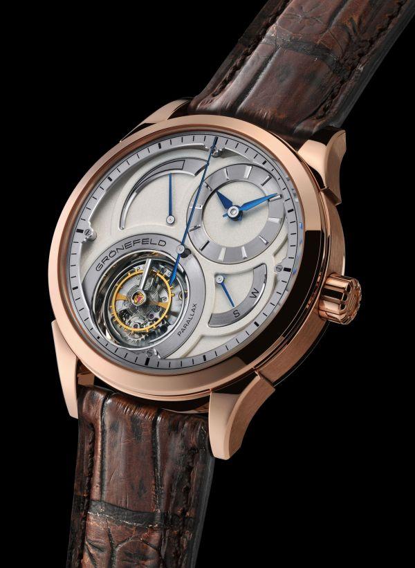 GRÖNEFELD PARALLAX TOURBILLON watch in red gold