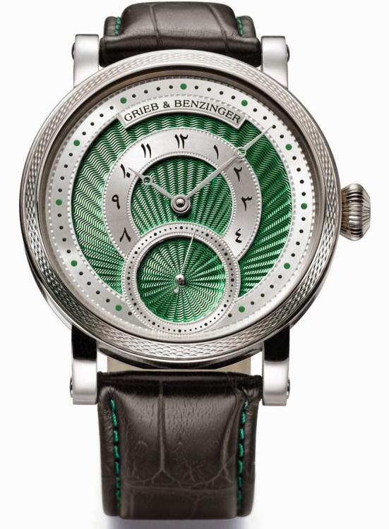 GRIEB & BENZINGER Green Inspiration Bespoke watch