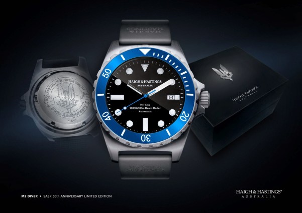 Haigh & Hastings Limited Edition M2 Diver Commemorative Timepiece 50th Anniversary of the Special Air Service Regiment (SASR)