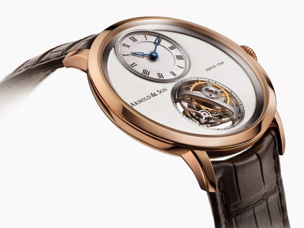 Arnold and Son UTTE Tourbillon New Version with Red Gold Case and Silvery-White Dial