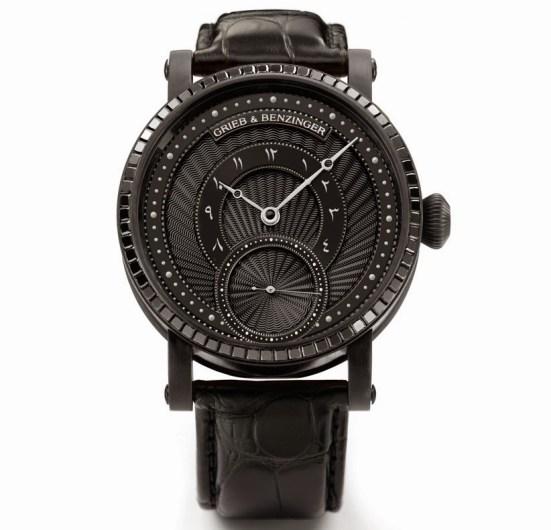 Grieb & Benzinger Pharos Centurion Imperial watch with black palladium case