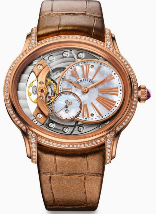 Audemars Piguet Millenary Woman 2015 collection red gold model mother of pearl dial