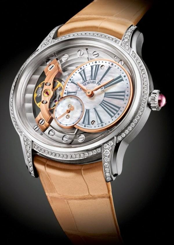 Audemars Piguet Millenary Woman white gold version with diamond set bezel and lugs