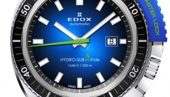 Edox Hydro-Sub 50th Anniversary Limited Edition watch with stainless steel bracelet