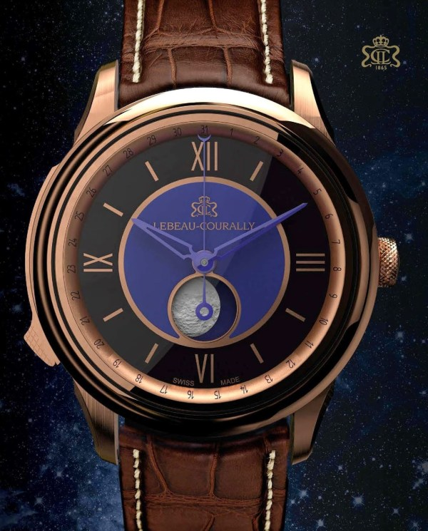 Lebeau-Courally Phase De Lune watch
