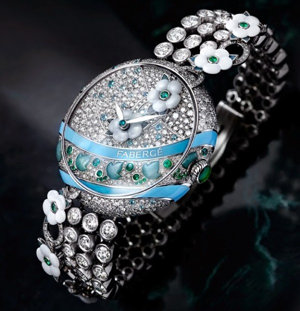 Fabergé Summer in Provence Emerald watch 37 mm