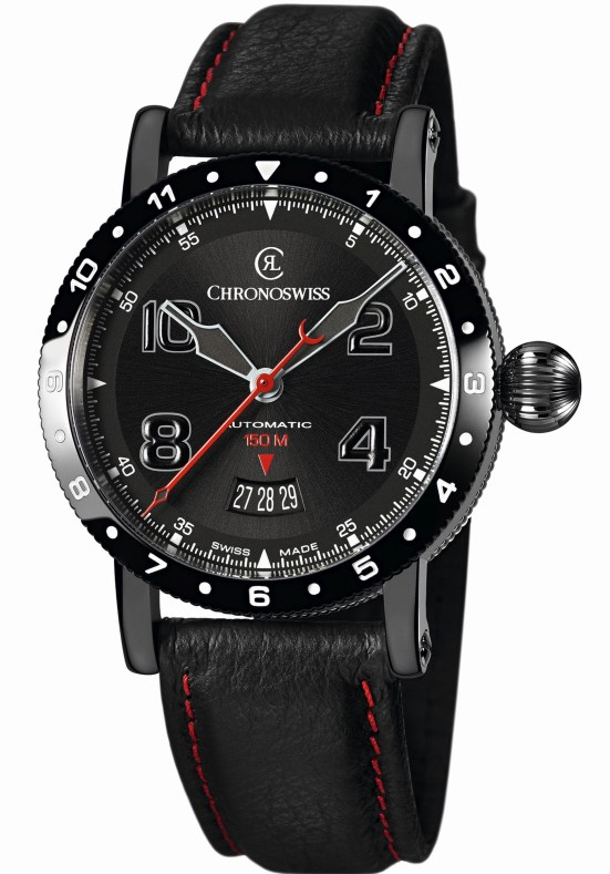 Chronoswiss Timemaster 150 Automatic - CH-2735-AZ (Stainless Steel PVD Model with Galvanic Anthracite Dial)