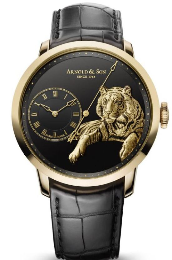 Arnold and Son Instrument TB Tiger limited edition watch in rose gold