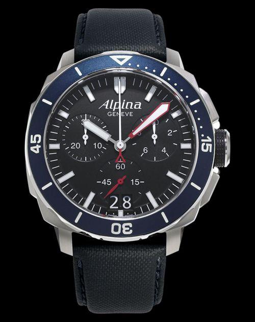 Alpina Seastrong Diver 300 Chronograph Big Date Reference: AL-372LBN4V6