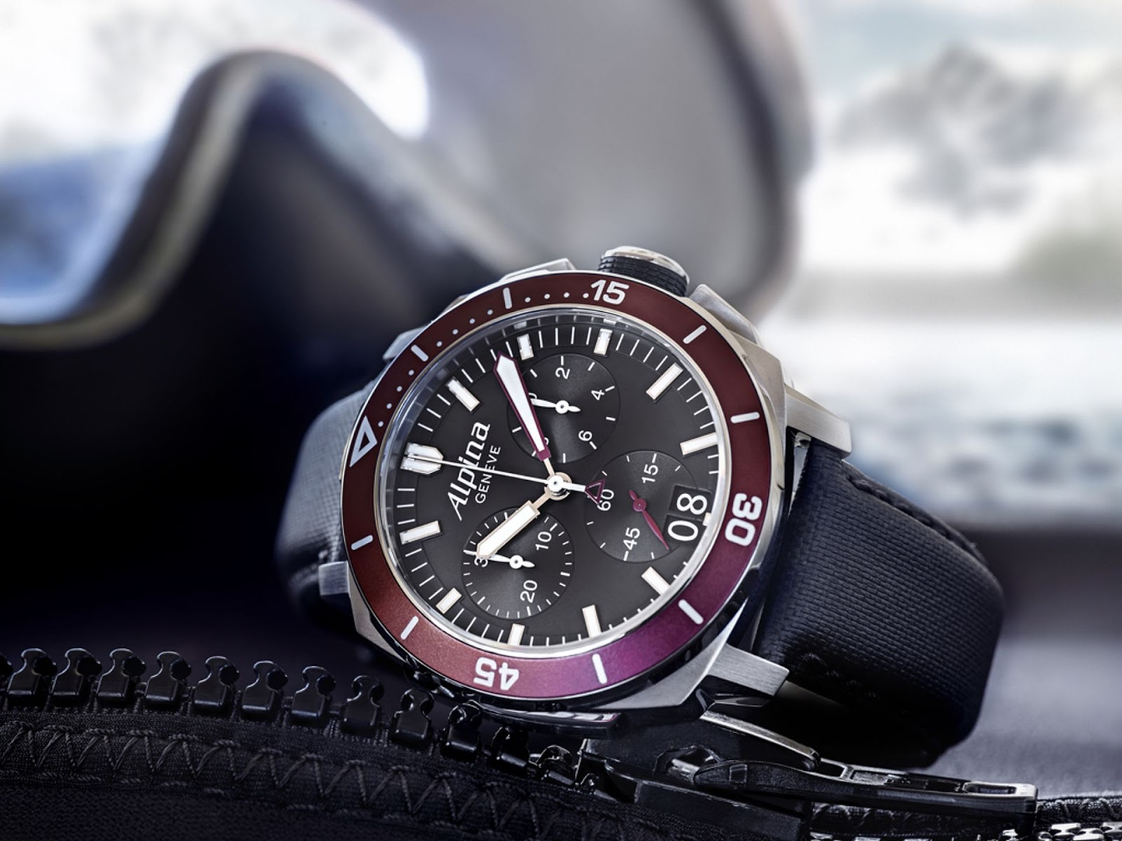 Alpina Seastrong Diver Chronograph Big Date MasterHorologer - Alpina diver watch
