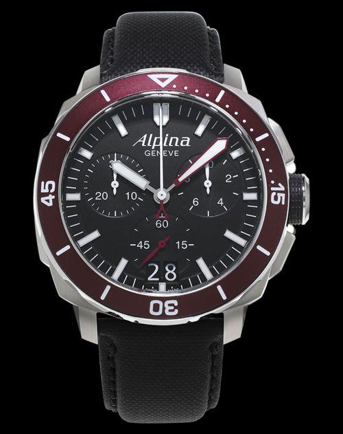 Alpina Seastrong Diver 300 Chronograph Big Date Reference: AL-372LBBRG4V6