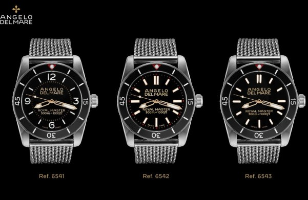 Angelo Del Mare Royal Master Collection diving watches