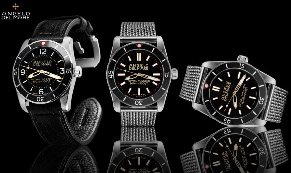 Angelo Del Mare Royal Master Collection - Swiss Made diving watches