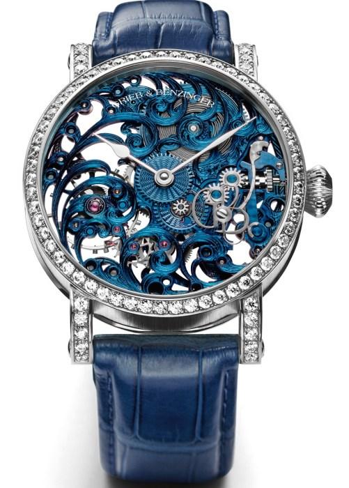 GRIEB & BENZINGER Blue Chip Series, Blue Tulip Diamond in 18K white gold set with 77 brilliant-cut diamonds