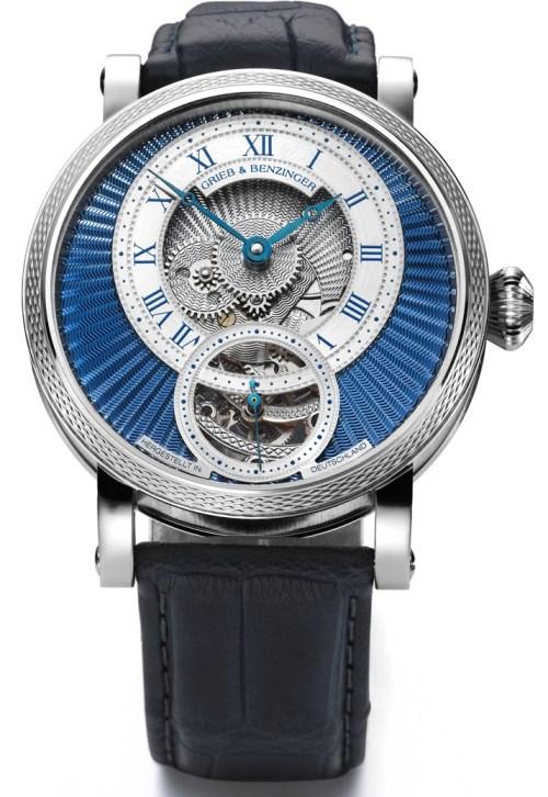 GRIEB & BENZINGER Blue Chip Series, Blue Polaris Watch in Platinum
