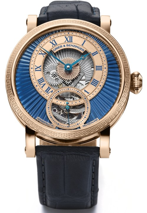 GRIEB & BENZINGER Blue Chip Series, Blue Polaris watch in 18K rose gold