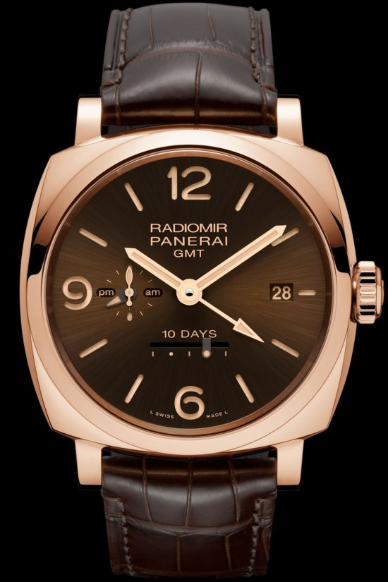 Panerai Radiomir 1940 10 Days GMT Automatic Oro Rosso, 45mm Brown Dial (PAM00624)