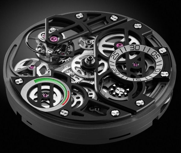 ANGELUS U30 Tourbillon Rattrapante watch with fly-back double column wheel chronograph and split-seconds