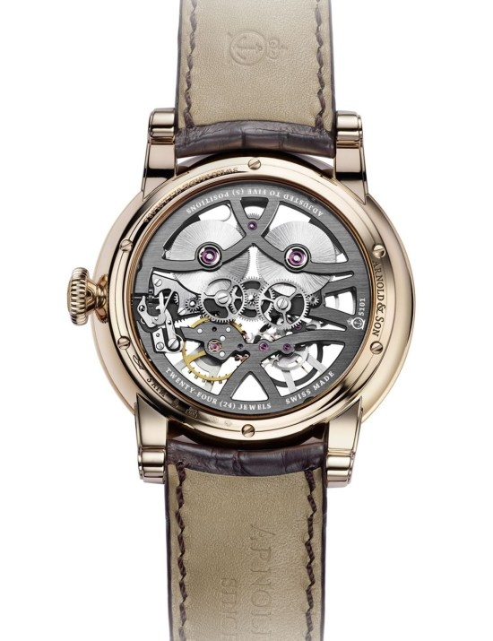 Arnold and Son Nebula watch red gold version with light grey chapter ring