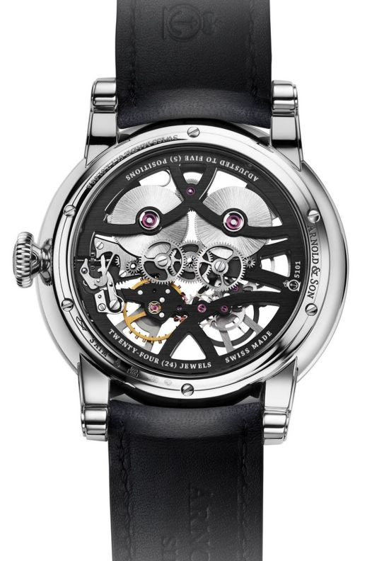 Arnold and Son Nebula watch Stainless steel version with Anthracite-coloured chapter ring