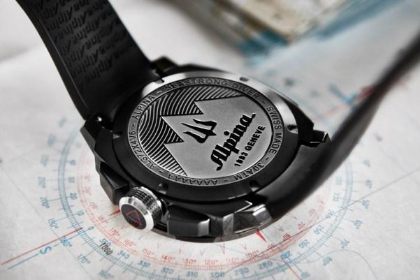 Alpina Seastrong Diver 300 Black Chronograph Big Date (All Black Version)