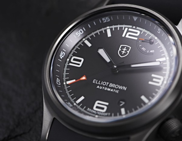 Elliot Brown Tyneham Automatic watch with black dial