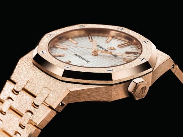 Audemars Piguet Royal Oak Frosted Gold watch pink gold