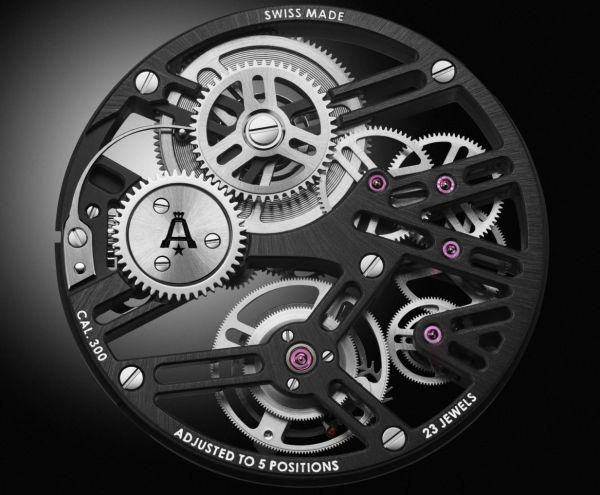 Angelus U40 Racing Tourbillon Skeleton watch movement