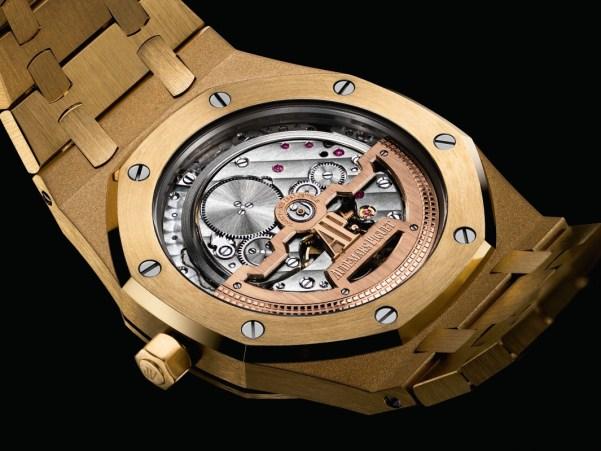 Audemars Piguet Royal Oak Extra-Thin Yellow Gold watch case back view