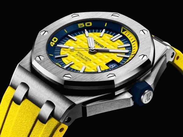Audemars Piguet Royal Oak Offshore Diver new model with yellow dial